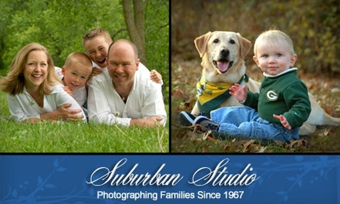 """Suburban Studio - Sun Prairie: $64 for a Family Photo Shoot and One 8""""x10"""" Print or $52 for a One-Hour Couples Photo Shoot and One 8""""x10"""" Print at Suburban Studio"""