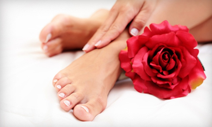 Scarlet's Nails - Emerson: $39 for a Deluxe Spa Mani-Pedi Package at Scarlet's Nails ($82 Value)