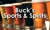 60% Off Buck's Sports and Spirits