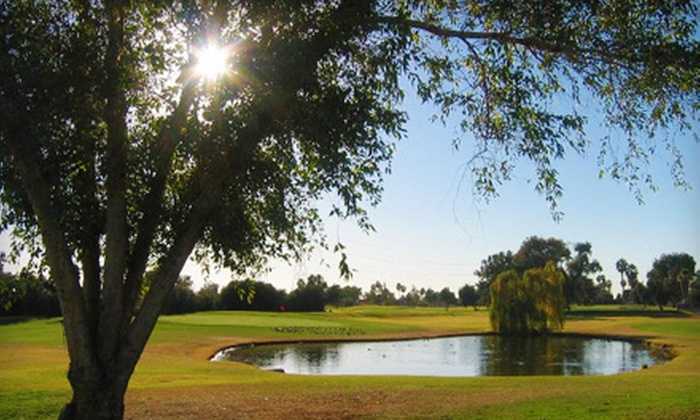 Peoria Pines Golf & Restaurant - Peoria: $15 for 18 Holes of Golf with Cart, Range Balls, and Bottle of Water at Peoria Pines Golf & Restaurant (Up to $34 Value)