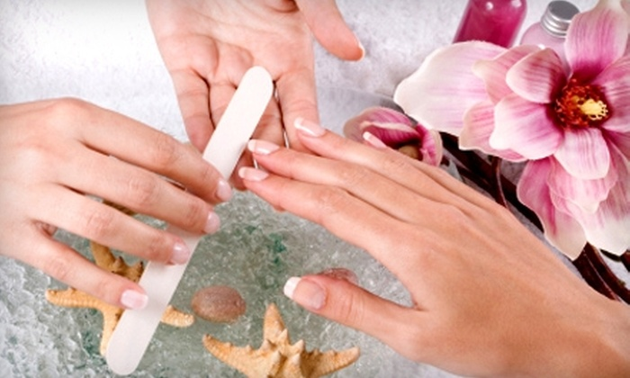 Sanctuary Nail Spa - Near North Side: $35 for a No-Chip Manicure and Basic Pedicure at Sanctuary Nail Spa