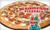 $10 for Pizza at Big Mama's & Papa's Pizzeria