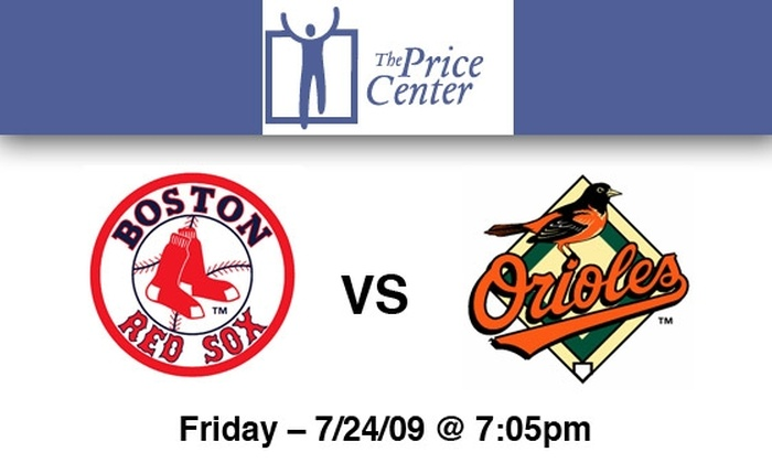 The Price Center - Fenway/Kenmore: $125 Tickets to Red Sox vs. Orioles on July 24—Proceeds Benefit The Price Center