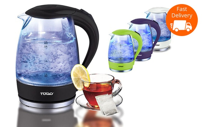 $25 for a Todo Cordless LED Glass Kettle in Choice of Colour (Don't Pay $149.95)