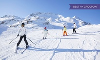 One-Hour Beginner Ski or Snowboard Lesson with Chips at Plymouth Ski Slope (50% Off)