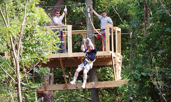 DFW Adventure Park - Justin-Roanoke: $30 for a Zipline Tour at DFW Adventure Park ($55 Value)