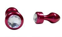 Joya anal de aluminio con acabado brillante