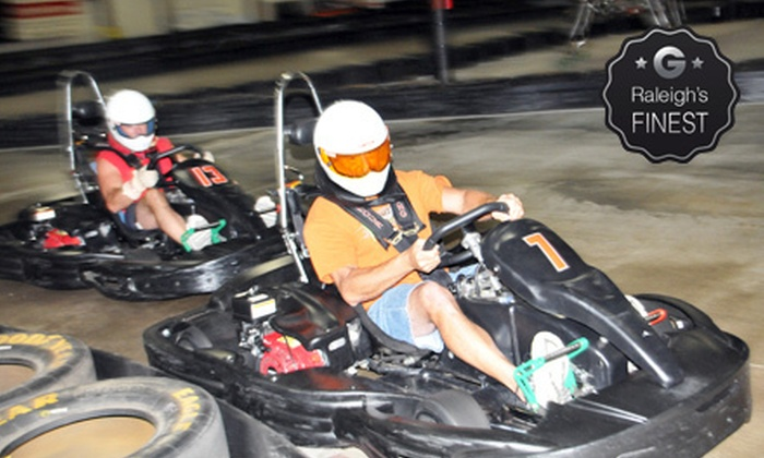 RushHour Karting - Rush Hour Karting: Two Races with Optional Medium-Size Pizza or Grand Prix Race Package for 10 at RushHour Karting (Up to 64% Off)