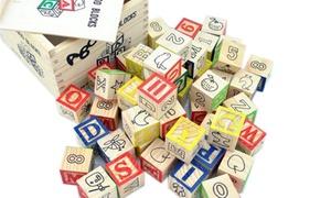 48-Piece Educational Wooden ABC Blocks