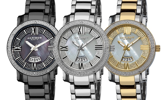 Akribos Women's Diamond Bracelet Watches: Akribos Women's Diamond Bracelet Watches. Multiple Styles Available. Free Returns.