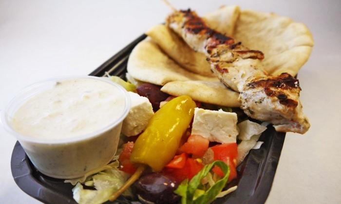 Souvlaki - Downtown: Casual Greek Food at Souvlaki (40% Off). Two Options Available.
