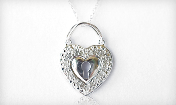 Diamond Heart Keyhole Pendant Necklace: $39 for a 0.25-Carat Diamond Heart Keyhole Pendant Necklace ($200 List Price). Free Shipping.