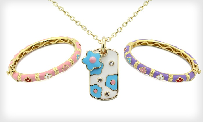 Children's Enamel Jewelry: Children's Enamel Earrings, Bracelets, and Necklaces (Up to 90% Off). 20 Options Available. Free Returns.