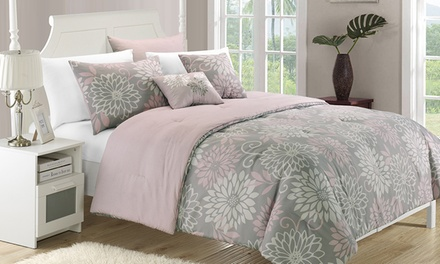 New Season Tex Microfiber Comforter Set (5- or 9-Piece)