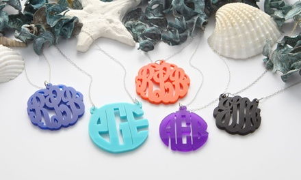 $19.99 for a Custom Acrylic-Monogram Necklace from Monogram Online ($79 Value)
