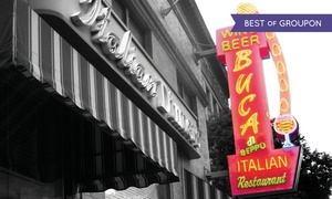 $10 For $20 Worth Of Family-style Italian Cuisine At Buca Di Beppo