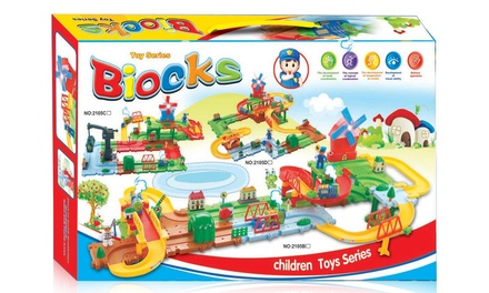 Biocks Children's Train Track Building Block Set