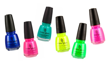 groupon daily deal - 6-Piece China Glaze Neon Nail Lacquer Collection