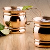 Solid Copper 16 Oz. Moscow Mule Mugs with Flat Handles (2-Pack)