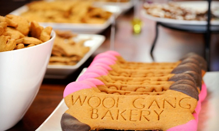 Woof Gang Bakery - Clearwater: Custom Dog Birthday Cake or $15 for $30 Worth of Dog Treats and Toys at Woof Gang Bakery