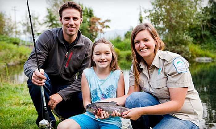 Fraser Valley Trout Hatchery Visitors Centre - Abbotsford: Fishing Lesson for Two or Four Children at Fraser Valley Trout Hatchery Visitors Centre (Half Off)