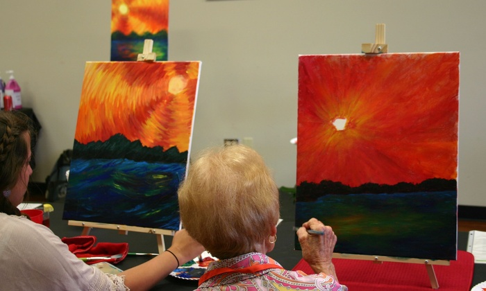 Sip And Spatter - Forest: Two-Hour Painting Lesson at Sip and Spatter (40% Off)