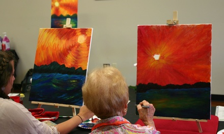 Two-Hour Painting Lesson at Sip and Spatter (40% Off)