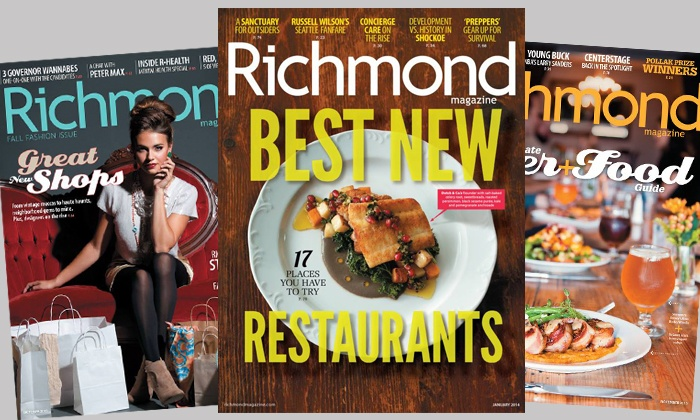 """Richmond Magazine - Richmond Magazine: $14 for a Two-Year Subscription to """"Richmond"""" and """"R Home"""" Magazines ($26 Value)"""