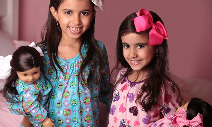 Matching Nightgown Sets for Girls and Dolls: Matching Nightgown Sets for Girls and Dolls. Two Colors Available. Free Returns.