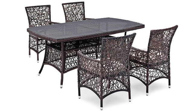 landmann polyrattan essgruppe groupon goods. Black Bedroom Furniture Sets. Home Design Ideas