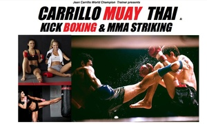 Carrillo Muay Thai & Kick Boxing: $49 for $100 Worth of Muay Thai Membership at Carrillo Muay Thai & Kick Boxing