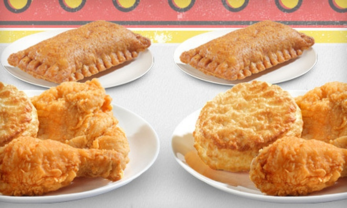 Bojangles' - Poplar Place: Two Fried-Chicken Meals with Sweet Potato Pies or Eight-Piece Meal with Sides and Biscuits at Bojangles' (Up to 52% Off)