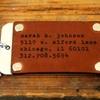 Custom Leather and Aluminum Luggage Tags