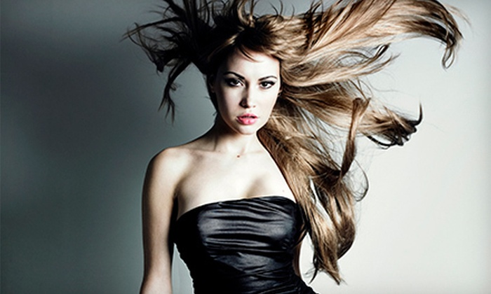 Salon Luxe - Richmond: Haircut with Conditioning or Choice of Highlights or Color at Salon Luxe (Up to 55% Off)