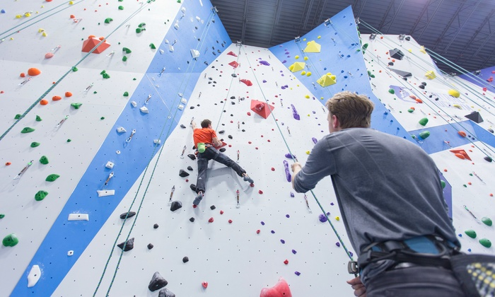 Central Rock Gym - Randolph: $39 for 1 Month of Unlimited Rock Climbing plus Gear and an Intro Class at Central Rock Gym ($89 Value)