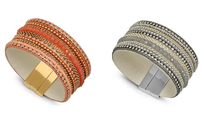 Multi-Row Crystal Wrap Bracelet: Multi-Row Crystal Wrap Bracelet