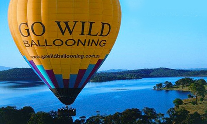 Go Wild Ballooning - : Hot Air Ballooning Midweek ($159) or Weekend ($199), with Go Wild Ballooning, Yarra Valley (Up to $285 Value)