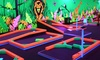 Glowgolf - Multiple Locations: Three Rounds of Glow-in-the-Dark Mini Golf for Two, Four, or Six at Glowgolf (Up to 59% Off)