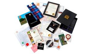 Highland Titles: Prawo do ziemi w Szkocji i tytuł Lairda, Lorda lub Lady Glencoe od 79,99 zł z Highland Titles
