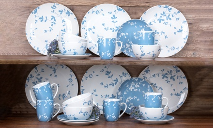 Waterside 24 Piece Blue Meadow Dinner Set