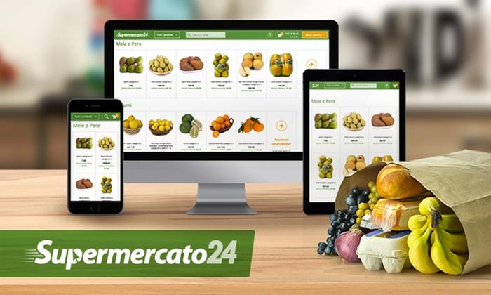 Supermercato24: Supermercato24 - Buono spesa di 15 € con consegne a domicilio in giornata, fai la tua spesa online! (sconto fino a 80%)