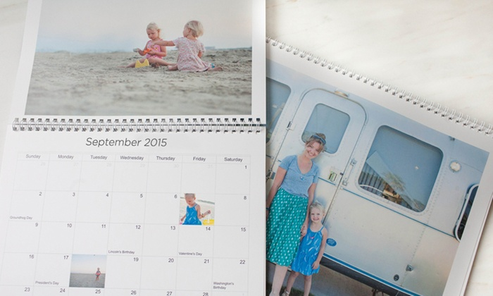 "Picaboo: One or Two 11""x9"" Custom Photo Calendars from Picaboo (Up to 64% Off)"