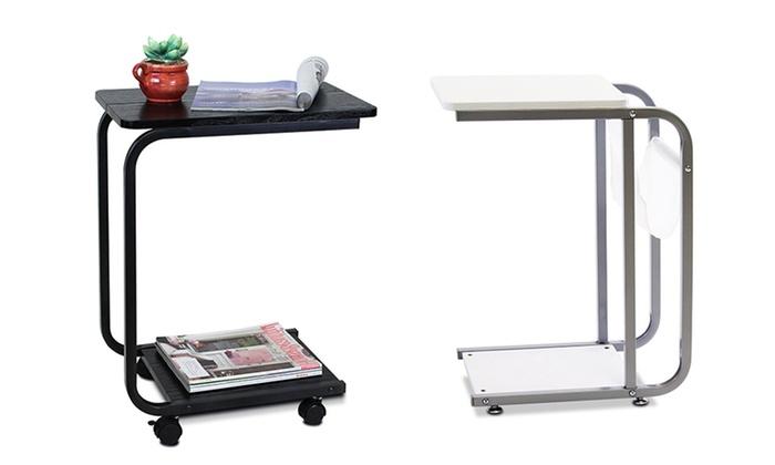 Amazing Furinno U Shaped Portable Side Table: Furinno U Shaped Portable Side Table  ...