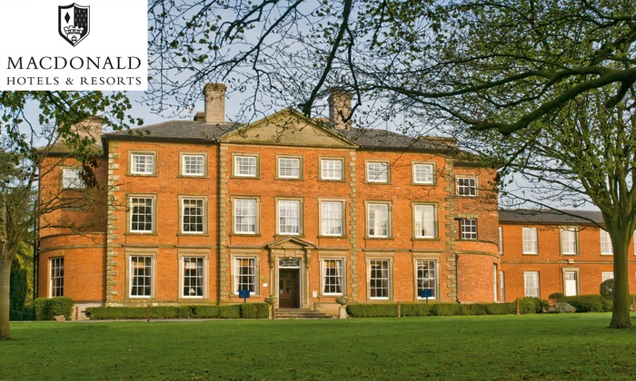 Traditional or Festive Afternoon Tea for Two or Four at Macdonald Ansty Hall Hotel