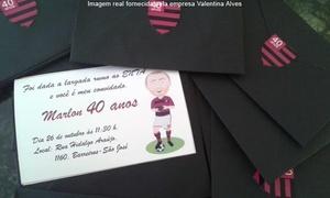 Valentina Alves: Valentina Alves – Biguaçu: 50, 100 ou 200 convites personalizados