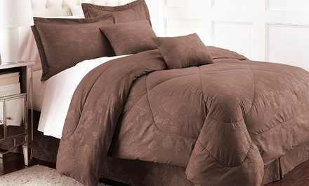 Hotel New York 6-Piece Embossed Floral Comforter Set. Multiple Options Available. Free Returns.