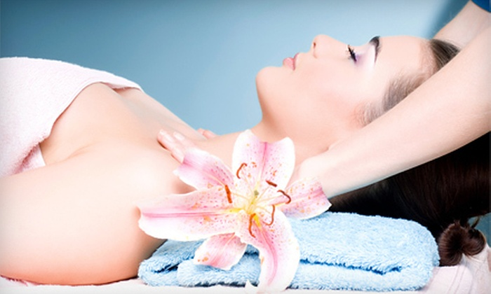 Escape Day Spa - Homewood: Grape-Seed Facial and Hot-Stone Aromatherapy Massage with Optional Pedicure at Escape Day Spa (Up to 52% Off)
