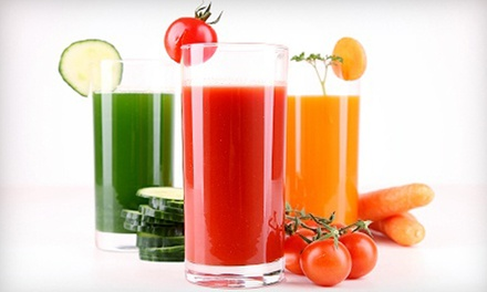Raw-Food or Juice Cleanse, or Raw Food at Khepra's Raw Food Juice Bar. (Up to 60% Off) Five Options Available.