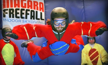 $69 for Indoor-Skydiving Experience at Niagara Freefall Indoor Skydiving & Interactive Center ($141 Value)