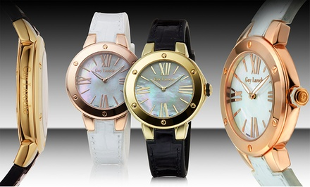 groupon daily deal - Guy Laroche Women's Fashion Watches in Black/Gold or White/Rose Gold. Free Returns.